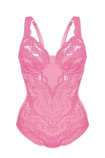 corrigerende body Classic Lace met kant roze