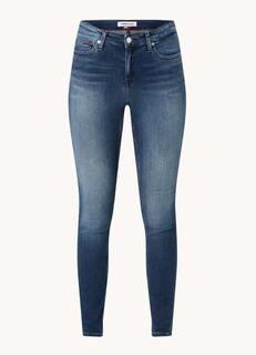 Nora mid waist skinny fit jeans met donkere wassing