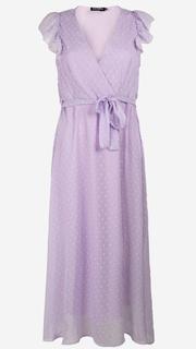 Lila kanten maxi jurk
