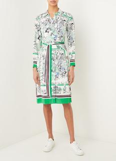 Midi blousejurk van zijde met print
