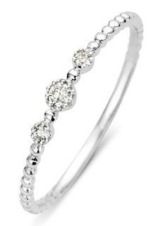 Joy ring van 14 karaat witgoud met 0-07 ct diamant