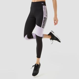logo high waist 7/8 sporttight zwart/paars dames
