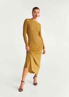 Lange metallic jurk
