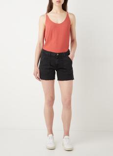 Cselby mid waist slim fit korte spijkerbroek met steekzakken