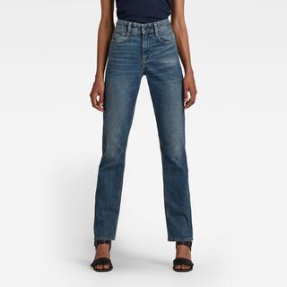 Noxer Straight Jeans - Midden blauw - Dames