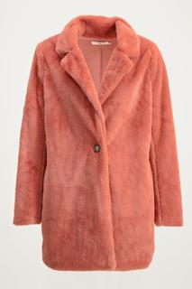 Roze teddy jas