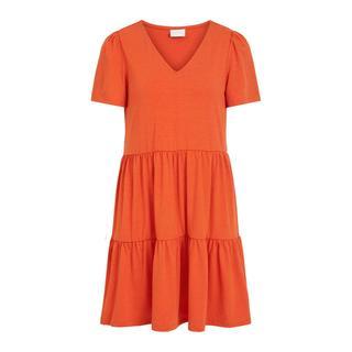A-lijn jurk VIEDENA van gerecycled polyester rood/oranje