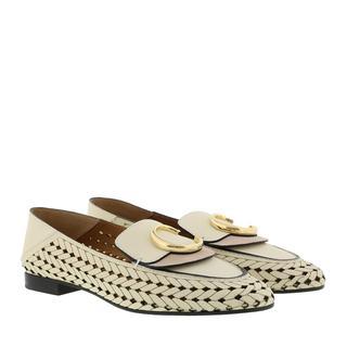 Schoenen - The C Logo Loafers Leather White in beige voor dames - Gr. 41 (EU)