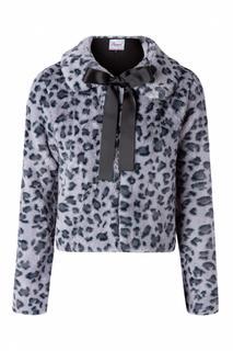 60s Fabulous Leopard Swing Fur Jacket in Grey