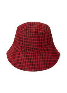 Bucket hoed met ruitdessin