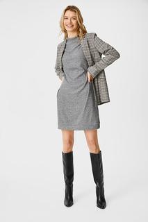 C&A Gebreide jurk, Grijs, Maat: XL