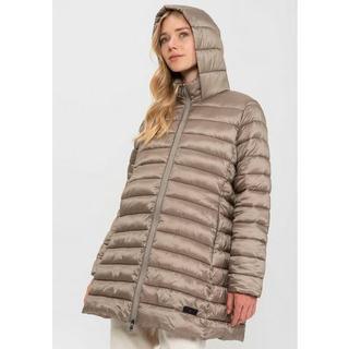 Gewatteerde jas Teslin Doorgestikte mantel met capuchon en hoog te sluiten kinbeschermer