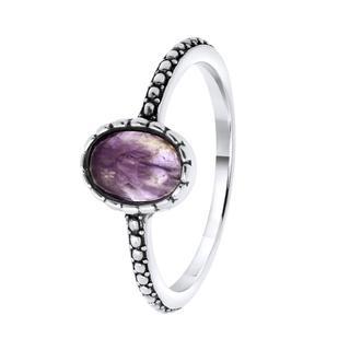 Zilveren ring met Gemstone amethyst
