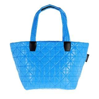 - Medium Vee Tote Vinyl in blauw voor dames