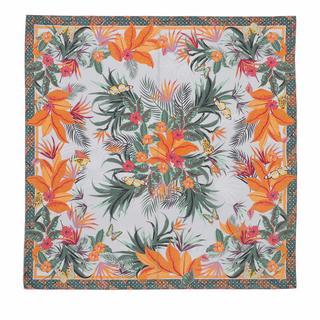 Sjaals & halsdoeken - Tropical Flora Scarf 100x100 in Meerkleurig voor dames