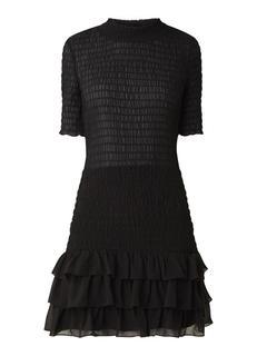 Francy mini jurk met smockwerk en volant