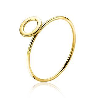 Gold 14 karaat gouden ring open rond ZGR163