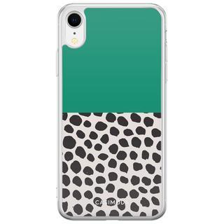 iPhone XR siliconen hoesje - Wild dots