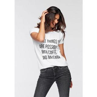 T-shirt Coffee and Mascara Smal met coole quote