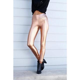 Legging met glanzende coating