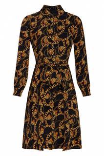 70s Shanna Chain Dress in Black