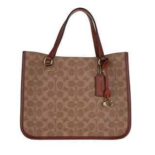 Shoppers - Coated Canvas Signature Tyler Carryall 28 in bruin voor dames