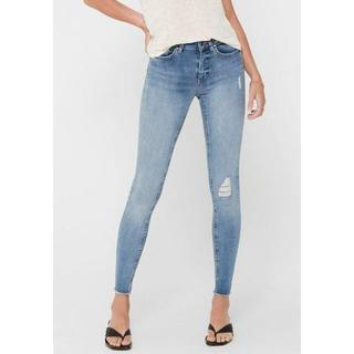 ankle jeans ONLBLUSH LIFE met destroyed-effect