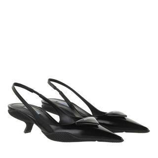 Sandalen - Slingback Pumps in zwart voor dames