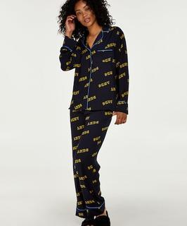 DKNY lange pyjama set Blauw