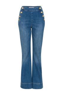 Dames Flared jeans met knopen