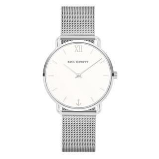 Horloges - Watch Miss Ocean Line White Sand Mesh Strap in zilver voor dames