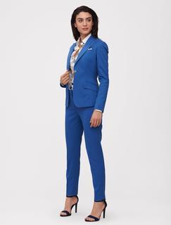 Women Colbert - Norcia Blazer - Lichtblauw - 95% Katoen, 4% Zijde, 1% Elastaan