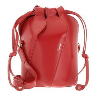 Bucket bags - Tulip Bucket Bag Leather in rood voor dames