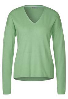 Zachte pullover in effen kleur