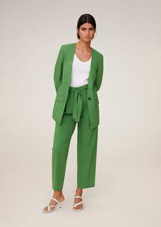 Gestructureerde linnen blazer