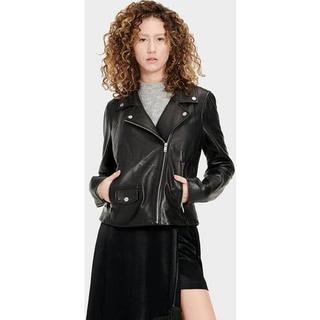 Alba Leather Jas voor Dames in Black, maat XS | Leder