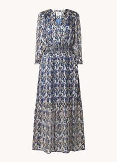 Bardon maxi jurk van satijn met lurex