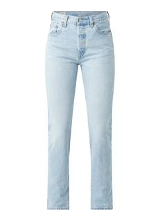 501 high waist straight fit cropped jeans met lichte wassing