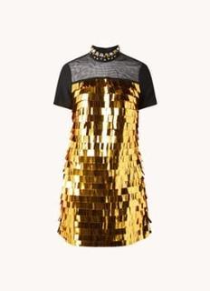Shula mini jurk met rugdecolleté en pailletten