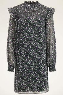 Wijdvallende jurk met bloemenprint