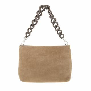 Crossbody bags - Suede Crossbody With Resin Chain Additional Leathe in green voor dames