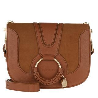 Crossbody bags - Hana Shoulder Bag Goat Leather in cognac voor dames
