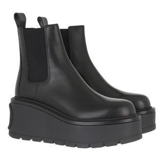 Boots & laarzen - Heeled Ankle Boots Leather in zwart voor dames