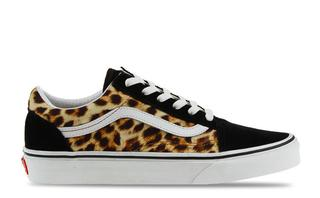 Old Skool Zwart/leopard Dames