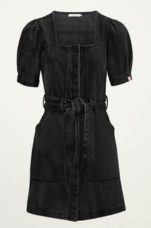 Zwarte spijkerjurk