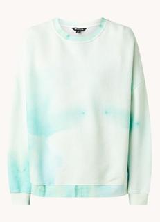 Sweater met tie-dye dessin