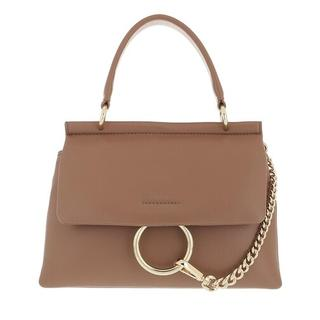 Satchels - Small Faye Soft Top Handle Bag in taupe voor dames