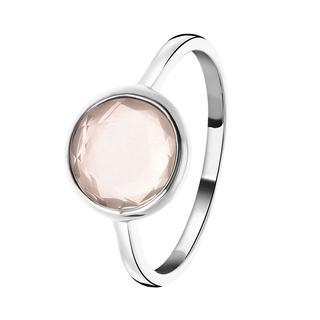 Zilveren ring Gemstone rose quartz