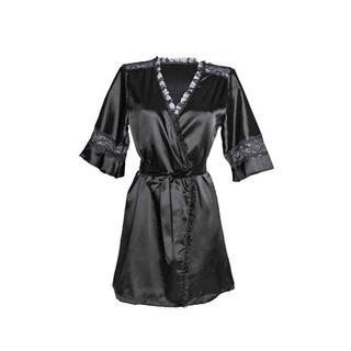 satijnen kimono Sensuality zwart